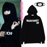 เสื้อฮู้ดแจ็คเก็ตแขนยาวสีดำ EXO MADMONKEY