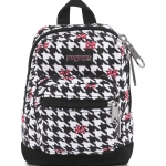 JanSport กระเป๋าเป้ รุ่น Right Pouch - Disney Minnie White Houndstooth