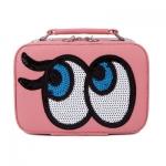 กระเป๋าเครื่องสำอาง big eyes mini สีโอรส