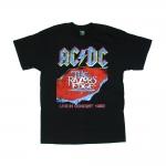 เสื้อยืด วง AC/DC แขนสั้น งาน Vintage ลายไม่ชัด ทุกขนาด S-XXL [Easyriders]