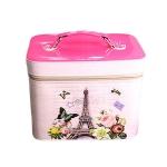 กระเป๋าเครื่องสำอางค์ Paris (สีชมพูเข้ม)