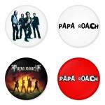 ของที่ระลึกวง Papa Roach เลือกด้านหลังได้ 4 แบบ เข็มกลัด, แม่เหล็ก, กระจกพกพา หรือ พวงกุญแจที่เปิดขวด 1 แพ็ค 4 ชิ้น [8]