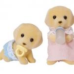 ซิลวาเนียน เบบี้แฝด ลาบราดอร์ นอน-คลาน (UK) Sylvanian Families Golden Labrador Twin Babies