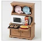 ซิลวาเนียน ตู้ไมโครเวฟพร้อมภาชนะ (EU) Sylvanian Families Cupboard with Oven