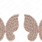 ต่างหูสไตล์อินเทรนด์ผีเสื้อแสนสวย18k gold Platedผสมคริสตัลออสเตเรียงดงาม ขนาด1.6*1.6CM