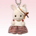 พวงกุญแจซิลวาเนียน เบบี้กระต่ายมิลค์กระโปรงลายสก็อต (JP) Sylvanian Family Buttermilk Baby