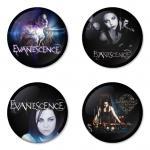 ของที่ระลึกวง Evanescence เลือกด้านหลังได้ 4 แบบ เข็มกลัด, แม่เหล็ก, กระจกพกพา หรือ พวงกุญแจที่เปิดขวด 1 แพ็ค 4 ชิ้น [4]