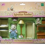 ซิลวาเนียน ชุดห้องนั่งเล่นกับเบบี้และพ่อแมววิสเกอร์ (EU) Sylvanian Families Living Room with Michael & Baby Heidi