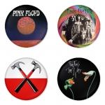 ของที่ระลึกวง Pink Floyd เลือกด้านหลังได้ 4 แบบ เข็มกลัด, แม่เหล็ก, กระจกพกพา หรือ พวงกุญแจที่เปิดขวด 1 แพ็ค 4 ชิ้น [10]