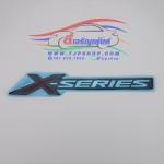 """สติ๊กเกอร์ฝาท้าย อีซูซุ ดีแม็ก ออลนิว """"X-Series"""" STICKER ISUZU D-MAX ALL NEW 2012-2016 ยางนูน ของแท้ 100%"""