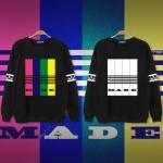 เสื้อแจ็คเก็ตแขนยาวสีดำ รุ่น BIGBANG MADE TOUR ALBUM แต่งแถบสีด้านหน้า+แขนเสื้อ มี2แบบ