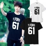 เสื้อยืดแขนสั้นเกาหลี INFINITE พิมพ์อักษร T.FORD มี2สี
