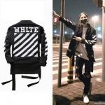 เสื้อแจ็คเก็ตแขนยาว EXO แต่งแถบแขนเสื้อ พิมพ์ลายด้านหลัง มี3สี