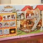 บ้านตุ๊กตาซิลวาเนียนพร้อมเฟอร์นิเจอร์ (EU) Sylvanian Families City House with Lights Gift Set