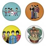 ของที่ระลึกวง The Beatles เลือกด้านหลังได้ 4 แบบ เข็มกลัด, แม่เหล็ก, กระจกพกพา หรือ พวงกุญแจที่เปิดขวด 1 แพ็ค 4 ชิ้น [3]