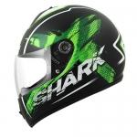 SHARK S600 PINLOCK EXIT Mat Black green white
