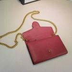 GG Marmont leather mini chain bag สีกะปิ ทำจากหนังวัวแท้ อย่างดี มีขนาด 8 นิ้ว เดทโคท มาพร้อมถุงผ้า การ์ด สายสะพายทำจากโซ่ ใช้เป็นคลัชออกงานก็สวย งาน Top mirror/hiend