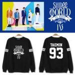 เสื้อแจ็คเก็ตแขนยาวเกาหลี SHINEE สกรีนลายหน้า/หลัง SHINEE WORLD มี2สี