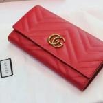 กระเป๋าสตางค์ GUCCI GG Marmontรุ่นพับ wallet รุ่นใหม่ สีแดง