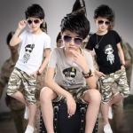 ชุดเด็กครบเซท กัปตันยูซีจิน Descendants Of The Sun เสื้อ+กางเกง มี3สี