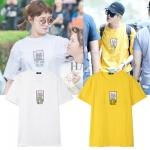 เสื้อยืดแขนสั้น คิมบ๊กจู พิมพ์ลายรูปแมวด้านหน้า มี8สี