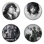 ของที่ระลึกวง The Doors เลือกด้านหลังได้ 4 แบบ เข็มกลัด, แม่เหล็ก, กระจกพกพา หรือ พวงกุญแจที่เปิดขวด 1 แพ็ค 4 ชิ้น [2]