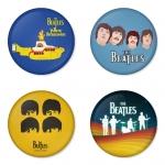 ของที่ระลึกวง The Beatles เลือกด้านหลังได้ 4 แบบ เข็มกลัด, แม่เหล็ก, กระจกพกพา หรือ พวงกุญแจที่เปิดขวด 1 แพ็ค 4 ชิ้น [4]