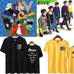 เสื้อยืดแขนสั้นเกาหลี SHINEE พิมพ์ลายหน้าหลัง มี6สี