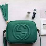 สุดฮิต ราคาเบาๆ Gucci Soho leather disco bag 10นิ้ว ทำจากหนังแท้อย่างดี มีเดทโคท มาพร้อมถุงผ้า การ์ด งานTop mirror/hiend