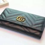 กระเป๋าสตางค์ GUCCI GG Marmontรุ่นพับ wallet รุ่นใหม่ สีดำ