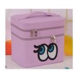 กระเป๋าเครื่องสำอาง big eyes double box สีม่วง