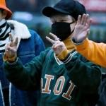 เสื้อแขนยาวแฟชั่นเกาหลี BTS พิมพ์ลายด้านหน้า OIOI มี4สี