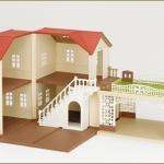 บ้านซิลวาเนียนพร้อมลานจอดรถ (JP) Sylvanian Families New House 2012 (Lighting House with Carport)