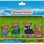 [SOLD OUT] ครอบครัวซิลวาเนียน ฮาเซลนัท-ดอร์เมาส์ 4 ตัว (UK) Sylvanian Families Hazelnut Dormouse Family