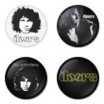 ของที่ระลึกวง The Doors เลือกด้านหลังได้ 4 แบบ เข็มกลัด, แม่เหล็ก, กระจกพกพา หรือ พวงกุญแจที่เปิดขวด 1 แพ็ค 4 ชิ้น [6]