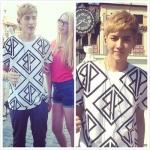 เสื้อยืดแขนสั้นเกาหลี สีขาว Kris EXO พิมพ์ลายกราฟฟิค
