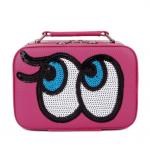 กระเป๋าเครื่องสำอาง big eyes mini สีบานเย็น
