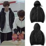 เสื้อแจ็คเก็ตเกาหลีสีดำ คังจีอุน Cinderella แต่งซิบ มีฮู้ด