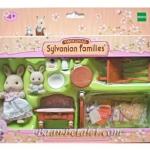 ซิลวาเนียน แม่กับเบบี้กระต่ายมิลค์พร้อมเฟอร์นิเจอร์ห้องเบบี้ (EU) Sylvanian Families Bedroom with Flora and Baby Robby