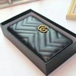 กระเป๋าสตางค์ GUCCI GG Marmont zip around wallet รุ่นใหม่ สีดำ