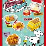 ReMent Snoopy's American Diner รีเม้นท์อาหารจำลอง ชุดอาหารสนุปปี้สไตล์อเมริกัน 8 แบบ