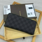 กระเป๋าสตางค์ Louis Vuitton Graphite Zippy Wallet Vertical