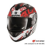 SHARK RIDILL KENGAL Mat Black white red