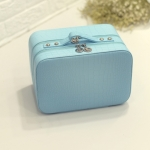 กระเป๋าเครื่องสำอาง croco double box สีฟ้า