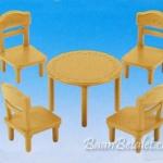 ชุดโต๊ะอาหารซิลวาเนียน (EU) Sylvanian Families Table & Chair Set