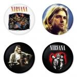ของที่ระลึกวง Nirvana เลือกด้านหลังได้ 4 แบบ เข็มกลัด, แม่เหล็ก, กระจกพกพา หรือ พวงกุญแจที่เปิดขวด 1 แพ็ค 4 ชิ้น [9]