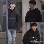 เสื้อแจ็คเก็ตแขนยาวสีดำ คังซออู Cinderella แนว Bigbang มีฮู้ด