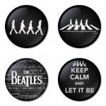 ของที่ระลึกวง The Beatles เลือกด้านหลังได้ 4 แบบ เข็มกลัด, แม่เหล็ก, กระจกพกพา หรือ พวงกุญแจที่เปิดขวด 1 แพ็ค 4 ชิ้น [8]