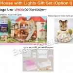 บ้านตุ๊กตาซิลวาเนียนพร้อมเฟอร์นิเจอร์ Sylvanian Families City House with Lights Gift Set I