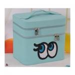 กระเป๋าเครื่องสำอาง big eyes double box สีฟ้า